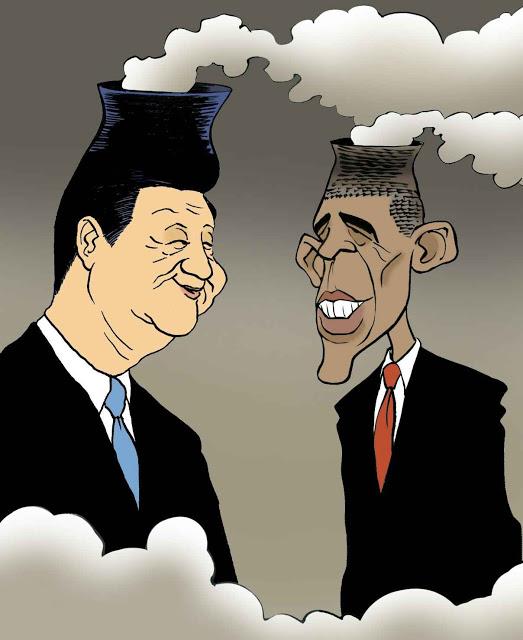 Obama com Xi Jinping as proopostas altamenete ideologizadas se prestam a todas as blagues