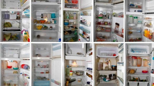 "A combination photo shows the contents of peoples fridges in Caracas, Venezuela April 2016. The combination of Venezuela's sky-rocketing prices and chronic product shortages have left many struggling to put regular food on their tables and maintain a balanced diet. Amid a severe recession and dysfunctional state-run economy, poorer families say they are sometimes skipping meals and relying more on starch foods. According to one recent study, 87 percent of Venezuelans say their income is now insufficient to purchase their food needs. REUTERS/Carlos Garcia Rawlins SEARCH ""FOOD GARCIA"" FOR THIS STORY. SEARCH ""THE WIDER IMAGE"" FOR ALL STORIES TPX IMAGES OF THE DAY"