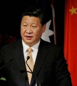 China's President Xi Jinping addresses the Australia China state and provincial leaders forum in Sydney, Australia Wednesday, Nov. 19, 2014.(AP Photo/Jason Reed, Pool)